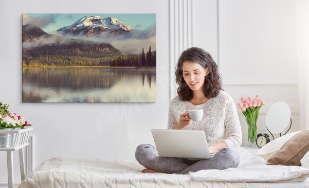 Image pour chambre à coucher avec paysage de montagne