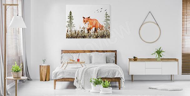 Image pour chambre à coucher renard