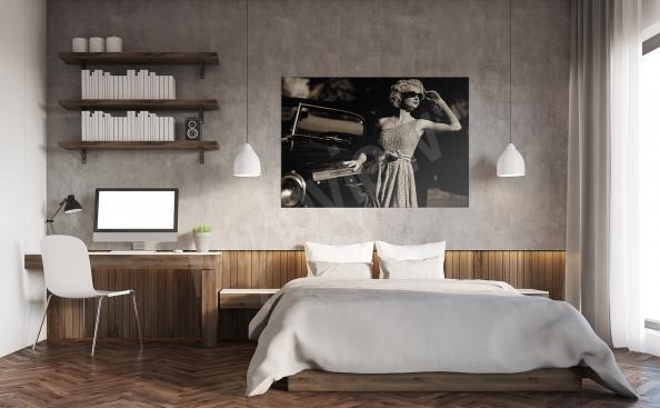 Image pour une chambre a coucher retro