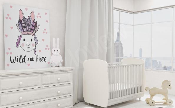 Image pour chambre d'enfant avec un lapin
