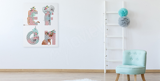 Image pour chambre de fille: lettres
