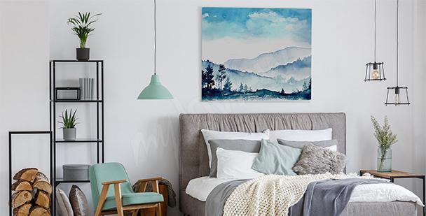 Image chambre à coucher lavande