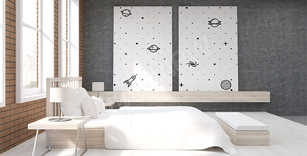 Image pour chambre noir et blanc