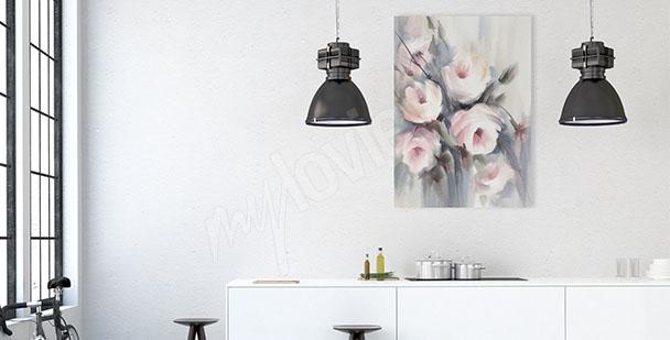 Image pour cuisine fleurs