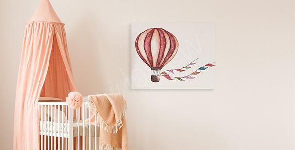Image pour de fille: montgolfière