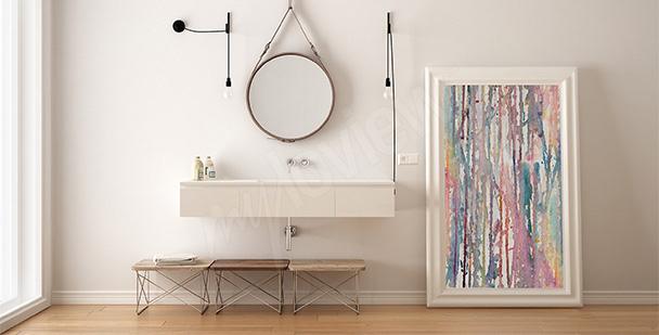 Image pour salle de bains abstraite