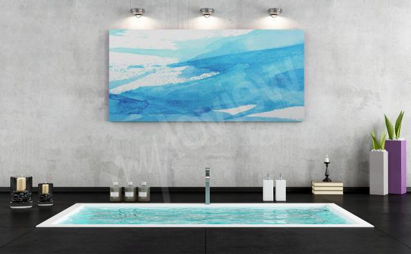 Image pour salle de bains aquarelle