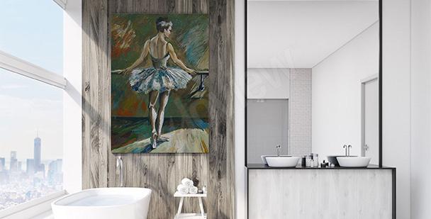 Image pour salle de bains: danseuse