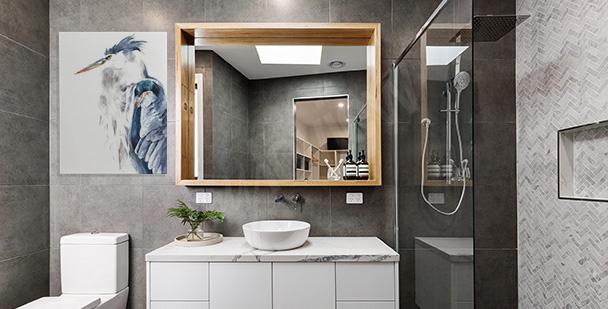 Image pour salle de bains: héron