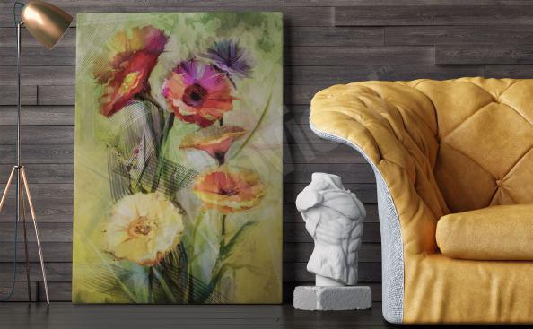 Image pour salon fleurs