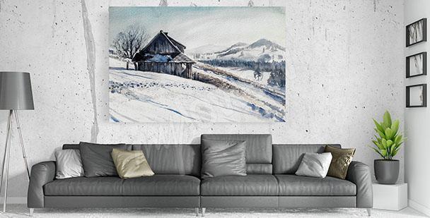 Image pour salon hiver