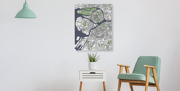 Image pour salon plan d'une ville
