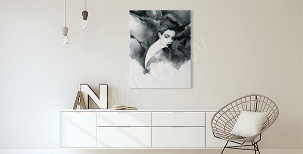 Image pour salon portrait de femme