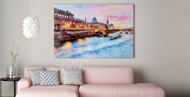 Image Paris coucher de soleil