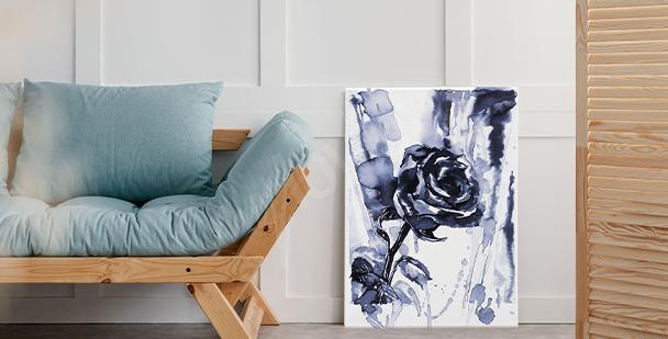 Image roses en noir et blanc