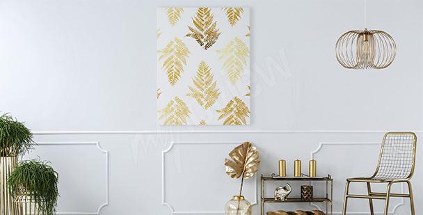 Image style glamour: feuilles dorées