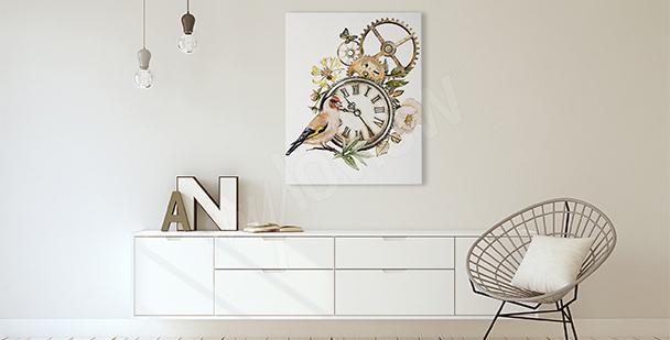 Image style rustique avec une horloge