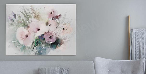 Image fleurs aquarelle