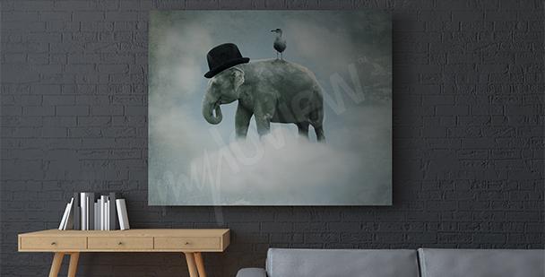 Image surréaliste éléphant