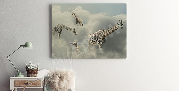 Image surréaliste girafes