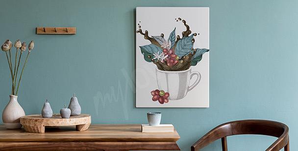 Image tasse avec des feuilles