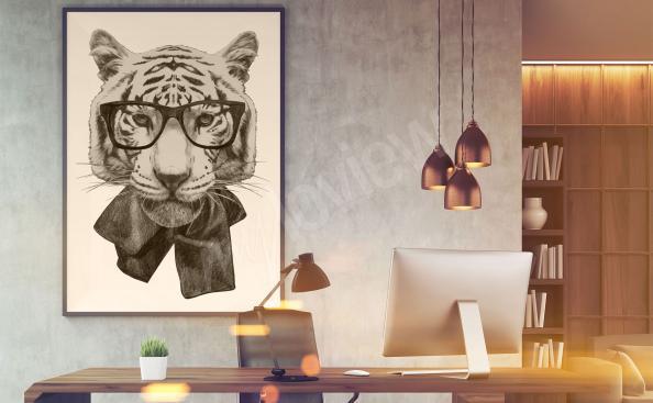 Image tigre pour chambre d'ado