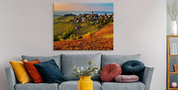 Image Toscane aux couleurs chaudes