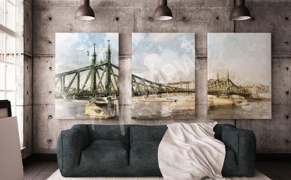 Image triptyque avec des ponts