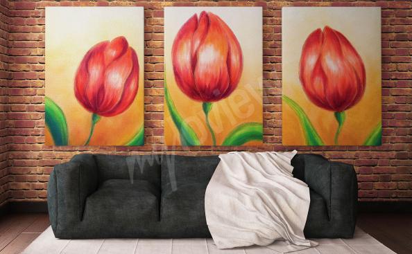 Image tulipe - peinture pour salon