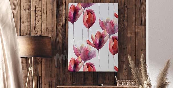 Image tulipe style minimaliste
