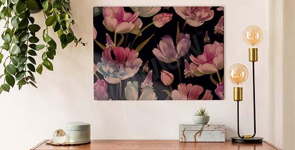 Image tulipes sur un fond foncé
