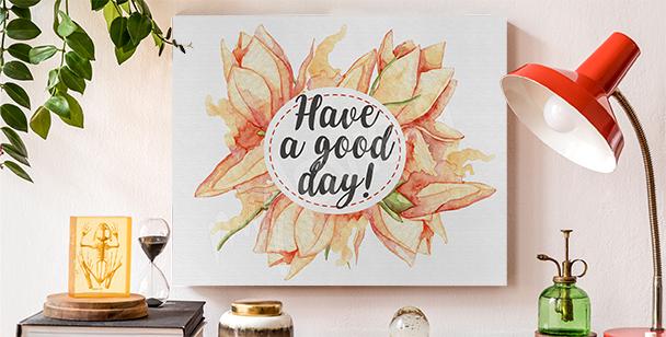 Image typographie et fleurs