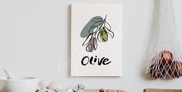 Image typographique avec une olive