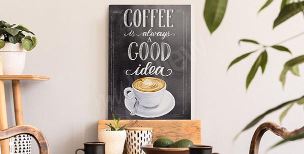 Image typographique café