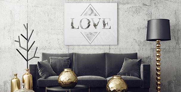 """Image typographique """"Love"""""""