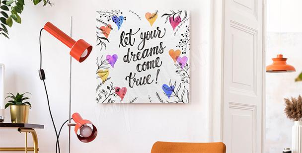 Image typographique pour un rêveur