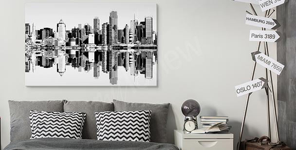 Image ville en noir et blanc