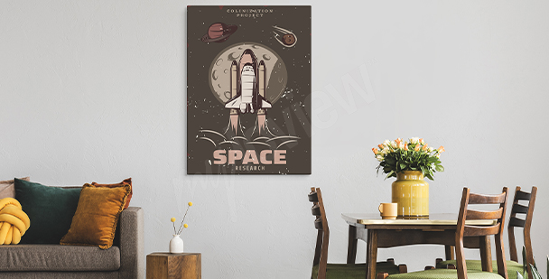 Image vintage avec un motif du cosmos