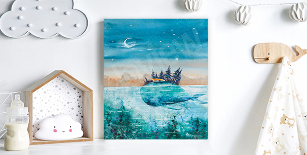 Image voyage baleine et renard