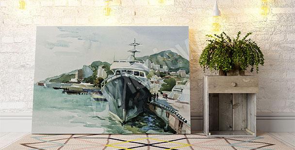 Image yacht au port