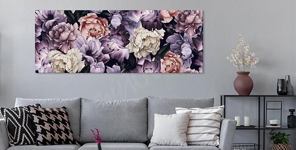 Images pivoines violettes