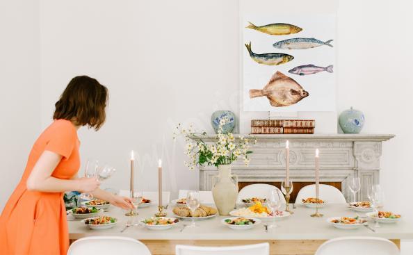 Images plats cuisinés et poissons
