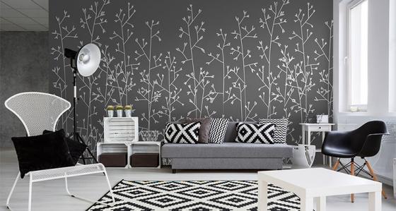 Papier Peint Noir Et Blanc Chambre : Des articles la chambre d ado inspiration avec le