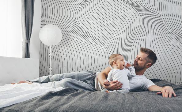 Papier peint 3D pour chambre à coucher