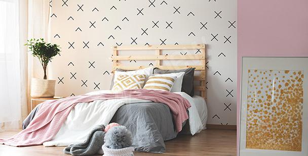 Papier peint à motifs géométriques