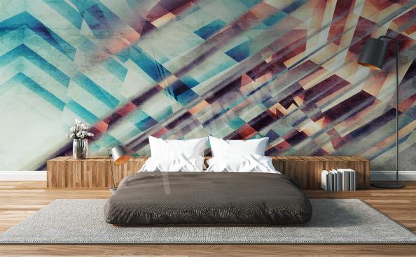 Papier peint abstrait illusion
