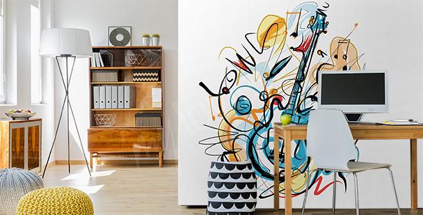 Papier peint abstrait musique