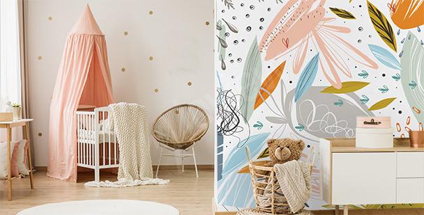 Papier peint abstrait pour chambre d'enfant
