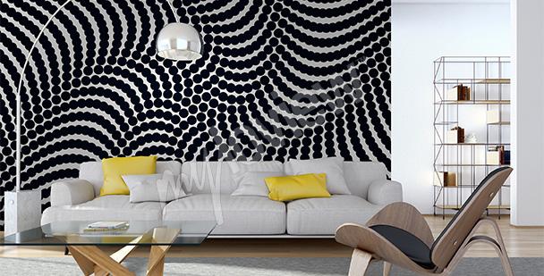 Papier peint abstrait spirale