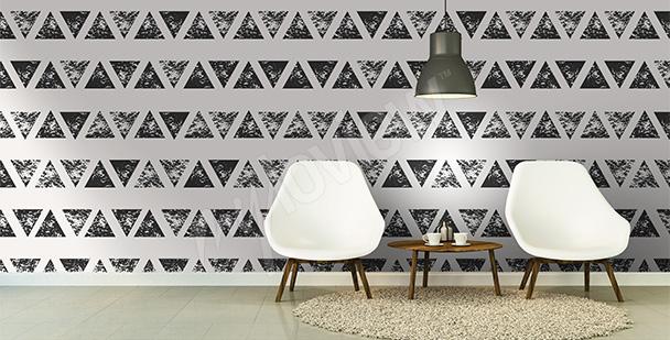 Papier peint abstrait triangle
